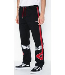 fila men paddy sweat pants byxor black/red