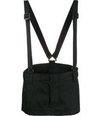 dsquared2 strap-detail mini skirt - black