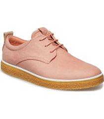 crepetray w snörade skor låga rosa ecco