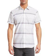 modern horizontal stripe short-sleeve shirt