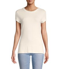 ted baker london women's roundneck tee - ivory - size 0 (2)