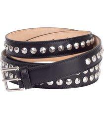 studded double belt