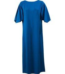 alberta ferretti blue boat neck shift dress