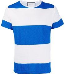 gucci horizontal stripes t-shirt - white