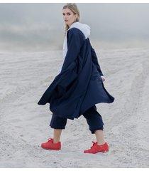 płaszcz dark blue longline