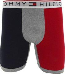 cueca tommy hilfiger boxer lettering vermelha/azul
