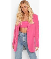 oversized getailleerde gekleurde blazer, hot pink