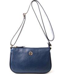 bolsa couro mariart transversal azul-marinho - azul marinho - feminino - dafiti
