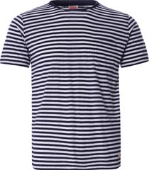 armor lux striped heritage t-shirt | navy/natural | 76023-429