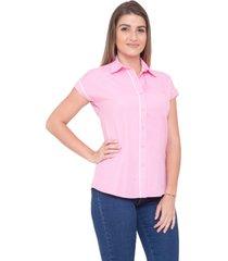 camisa pimenta rosada poá ayla rosa
