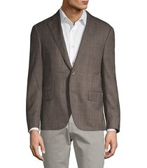textured wool-silk blend jacket
