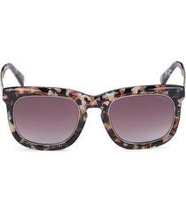 emilio pucci women's 50mm square sunglasses - havana