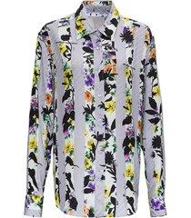 shirt met strepen en bloemen