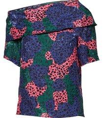 leuze p blouses short-sleeved blauw tiger of sweden