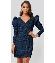 trendyol jacquard dress - blue