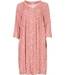 midi jurk met bloemenprint christiana  rood