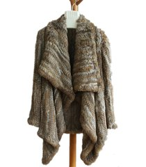 fluffy cardigan knit rabbit fur oversized cardigan outwear womens fur sweater