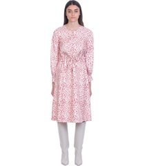 a.p.c. clemence dress in white silk