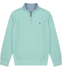 sweater bayside green polo ralph lauren ml media cremallera ppc