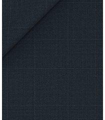 blazer da uomo su misura, carlo barbera, assoluto blu principe di galles, quattro stagioni | lanieri