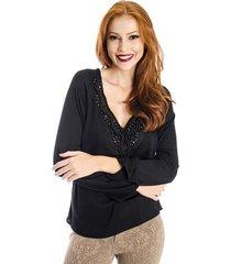 blusa pedraria handbook feminino