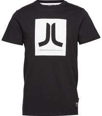 box icon t-shirt t-shirts short-sleeved svart wesc