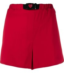 love moschino loose fit shorts - red