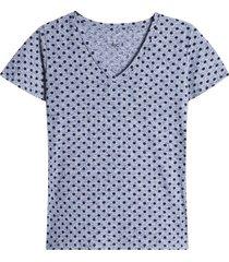 camiseta arandela manga pepas color beige, talla 10