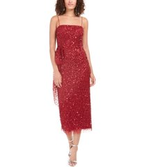 adrianna papell beaded column dress