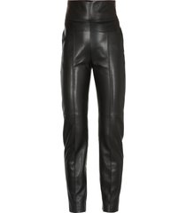 alexandre vauthier leather trousers