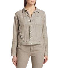 l'agence women's celine linen jacket - cinder - size l