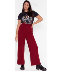 womens let me loose plus wide-leg pants - wine