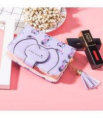 billetera mujeres- cartera monedero lindo monedero-púrpura