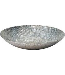 centro de mesa dunya dunya de vidro 40cm fabric prata