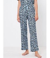 loft leopard print pajama pants