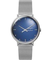 skagen men's finn juhl stainless steel mesh bracelet watch 40mm