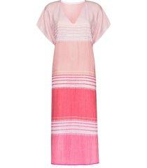 lemlem eshal kaftan dress - pink