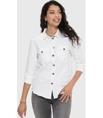 blusa jacqueline de yong blanco - calce regular
