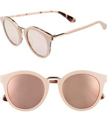 women's kate spade new york joylyn 50mm round sunglasses - pink havana