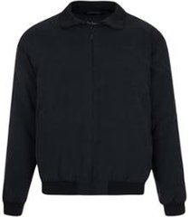 jaqueta suede com manta e forro fake fur masculino