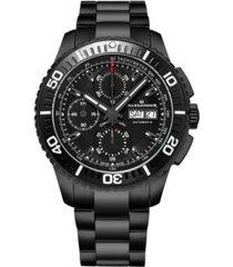 alexander watch a420-02, stainless steel black pvd case on link bracelet