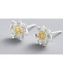 orecchini in argento sterling 925 eleganti orecchini classici con fiori di loto per le donne