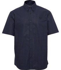 2 col. gingham shirt kortärmad skjorta blå fred perry