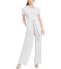 calvin klein striped jumpsuit