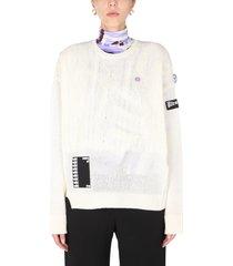 raf simons crew neck sweater