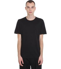 theory claey plaito t-shirt in black silk