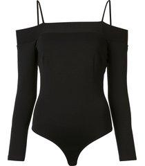 fleur du mal off-shoulder bodysuit - black