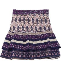 brigitte border skirt in violet