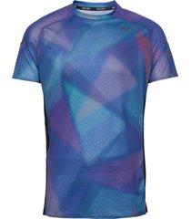 aero graphic tee t-shirts short-sleeved blå mizuno