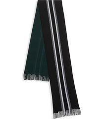 boss hugo boss men's moletti virgin wool scarf - black